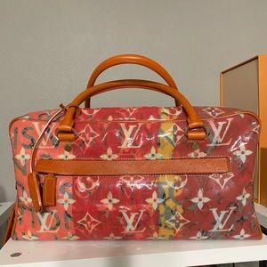 Louis Vuitton monogram pulp vinyl weekender PM